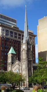 Old Stone Church in Cleveland's Public Square