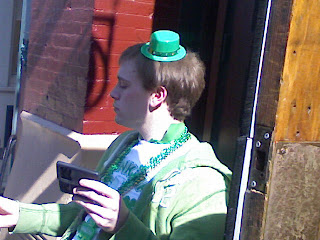 St. Patrick's Day Reveler In Cleveland
