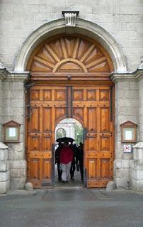 Trinity College Gate in Central Dublin