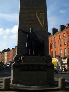 Statue of Charles Stewart Parnell at bottom of Parnell Square