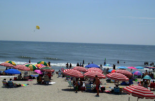 Umbrellas at the Ocean City Beach in New Jersey