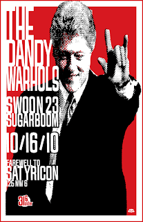 West Coast dates for The Dandy Warhols and Presale available  now! and Satyricon with original Dandy's Drummer Eric Hedford.