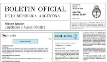 BOLETN OFICIAL DE LA REPBLICA ARGENTINA