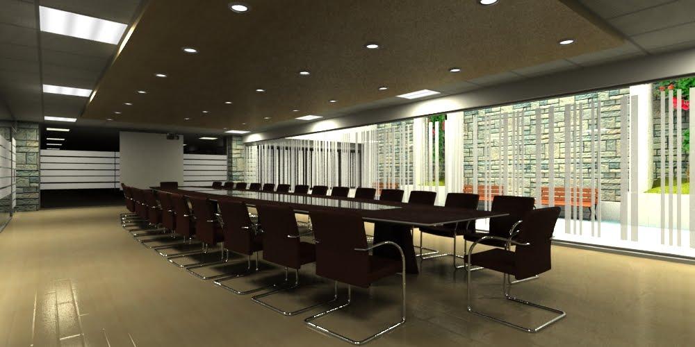 3d proyectual sala de reuniones tipo for Sala de reuniones
