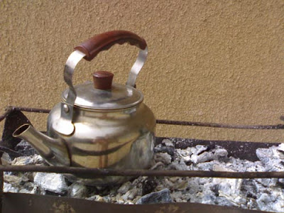 teapot over fire
