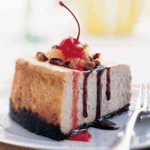 dessert recipes: Banana Split Cheesecake 2