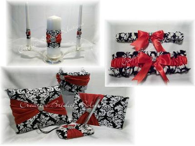 Black and White Damask with Red flowers I personally love the color palette
