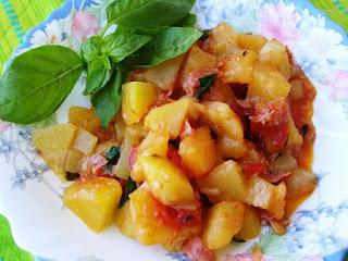zucchina  lunga e patate