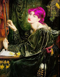 Veronica Veronese, mirrored and purple