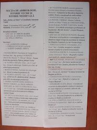 Programul Comunicărilor de la Muzeul din Vaslui, facsimil