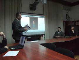 Aspecte din timpul conferinţei d-lui dr. Sorin Iftimi