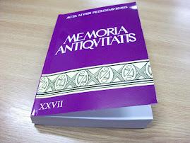 """""""Memoria Antiquitatis"""", XXVII, 2011"""