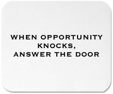 Opportunity may knock only once, but temptation leans on the doorbell.