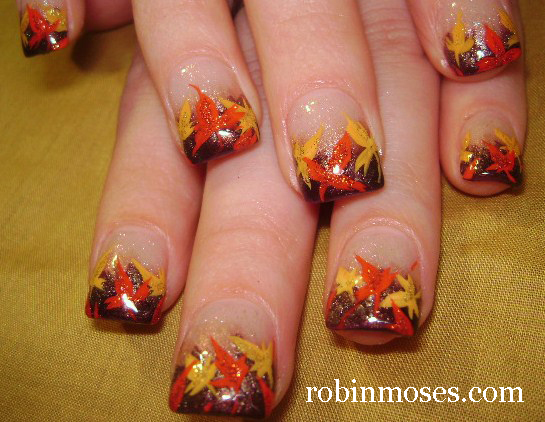 robin moses nail art fall leaves fall leaf autumn