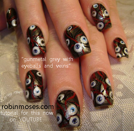 Day of the dead nail art sugar skull nail art the scream nails an error occurred prinsesfo Image collections