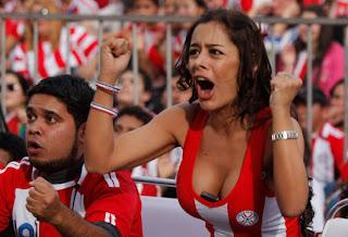 gatas, torcedora, copa 2010, torcida feminina, paraguai, mulheres gostosas, sensual