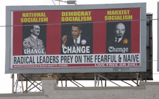 Barack Obama, Adolf Hitler, Vladimir Lênin, Tea Party, sarah palin, mason city, outdoor, usa, eua