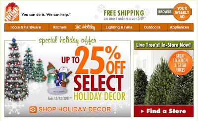 Home Depot Christmas marketing blooper