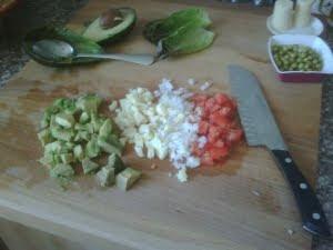 Cortar las verduras.