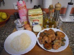 Ingredientes para las croquetas.
