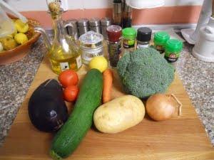 Ingredientes para el hervido.