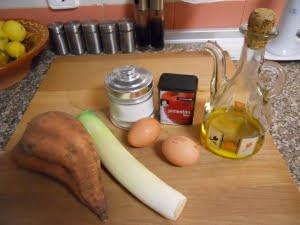 Ingredientes para el huevo en su nido.