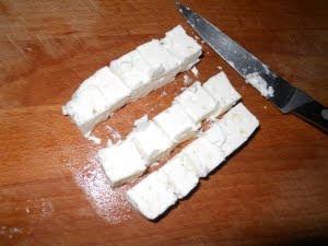 Cortar el queso.