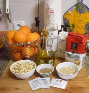 Ingredientes para las tortas de pascua.