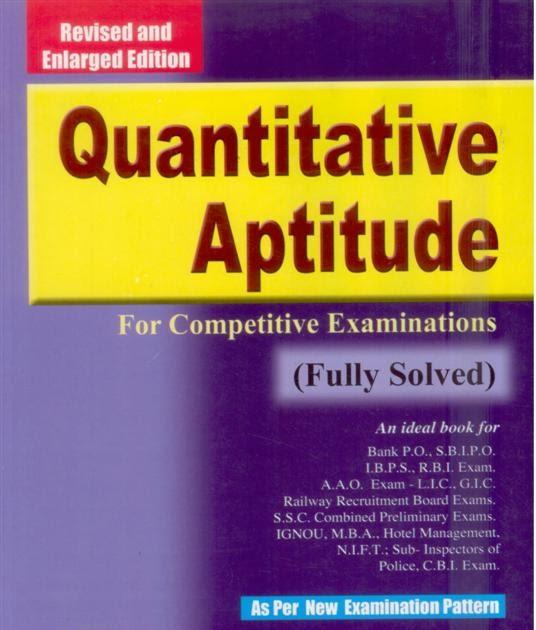 RS Agarwal Quantitative Aptitude Pdf Free Ebook Download