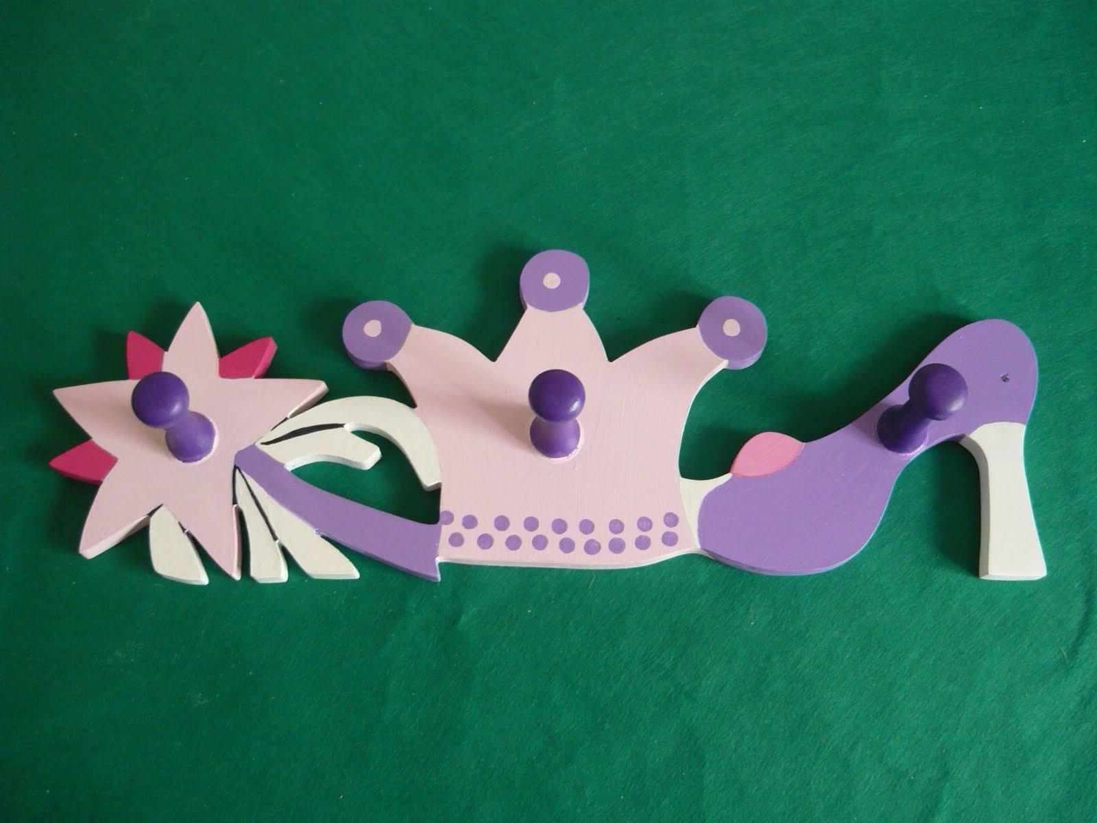 Souvenires y artesanias perchero con formas infantiles - Percheros para ninas ...