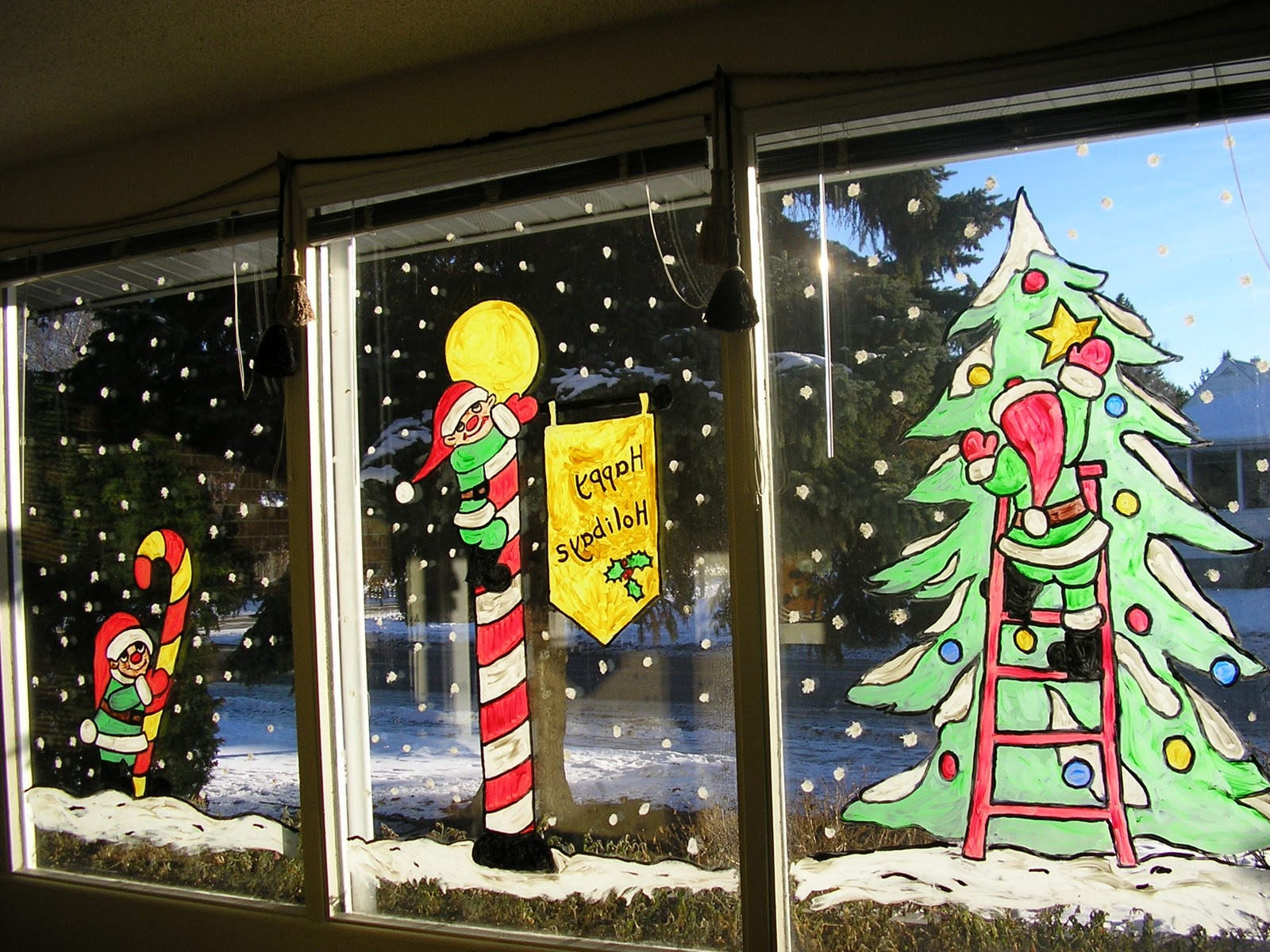 Christmas 2010 Window Art & Inspireworks Art: Christmas 2010 Window Art
