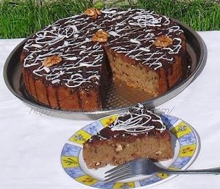 Articole culinare : Tort -negresa cu nuca si cafea