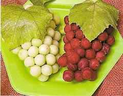 Cachos de Uva com Beterraba e Chuchu