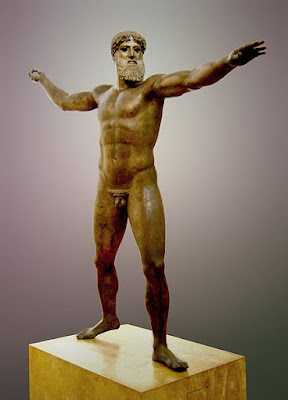 Poseidon (or Zeus) of Cape Artemision, National Archaeological Museum of Athens, Greece.