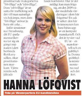 Hanna Löfqvist och den omskrivna glipan