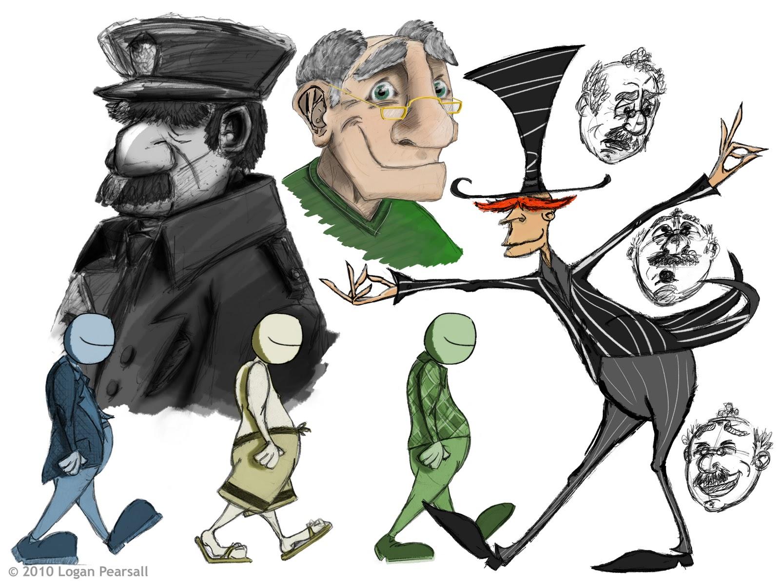 Calarts Character Design Portfolio : Logan drawings calarts portfolio