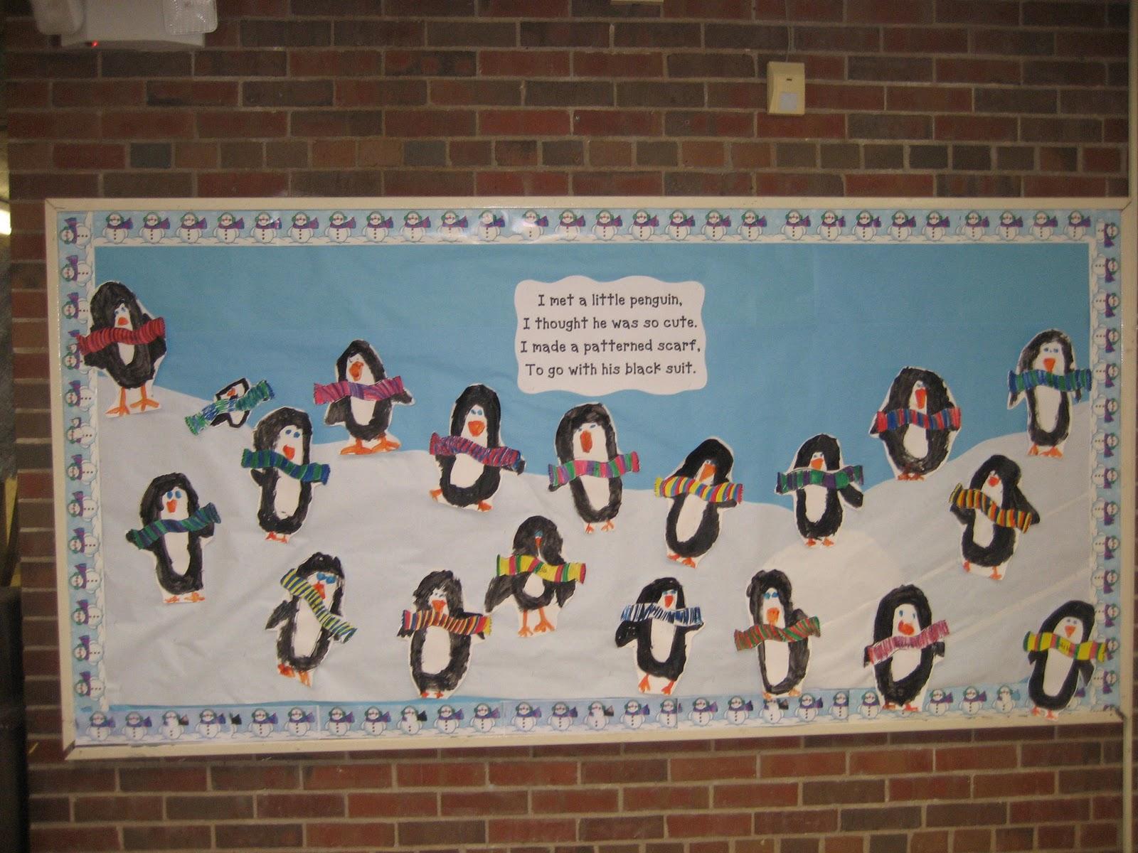 Our Penguin Bulletin Board (idea from http://overallsuccess.net/ )