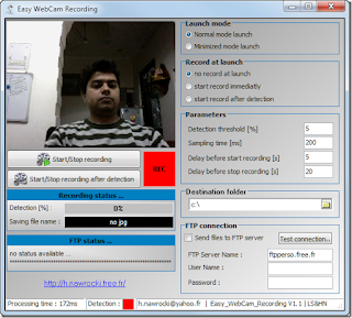 Easy Web cam Recorder is a freeware application which allows you to record ...