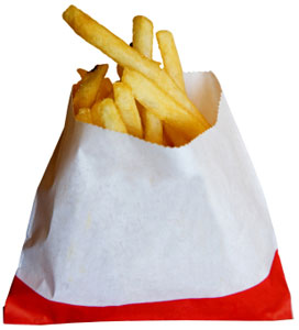 Paper Fast Food Wrapped In Dangerous