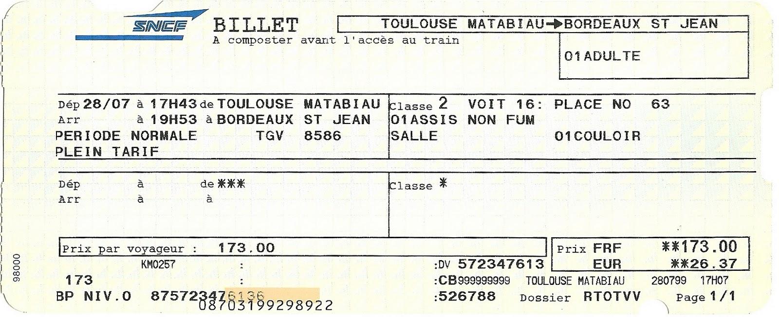 Trains Aller Retour Paris Toulouse iDTGV