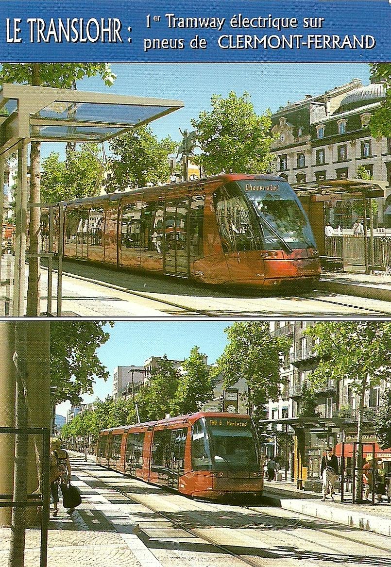 the traveler 39 s drawer le translohr 1er tramway lectrique sur pneus de clermont ferrand. Black Bedroom Furniture Sets. Home Design Ideas