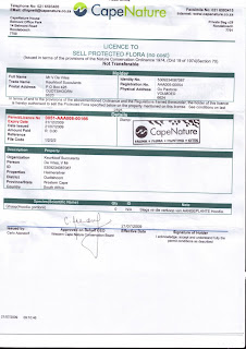 Hoodia grower seller permit