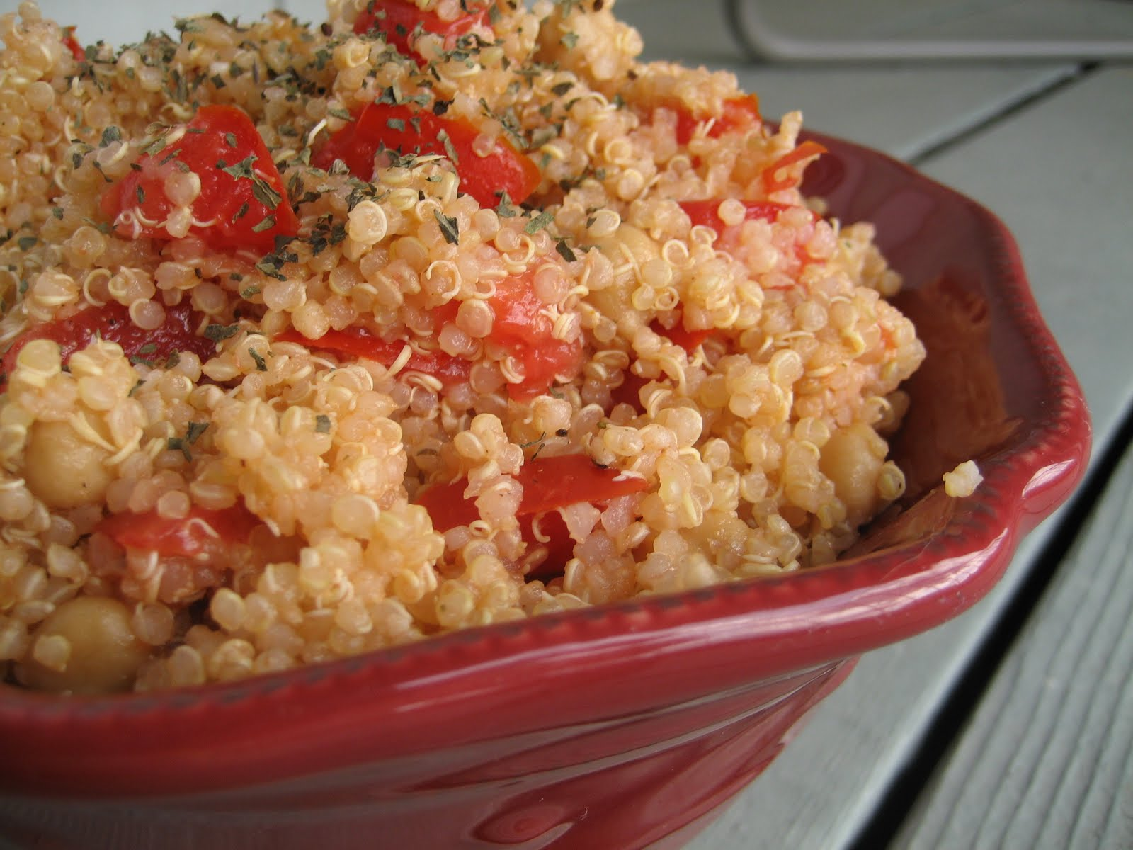 Perfectly Imperfect: Quinoa with Chickpeas and Tomatoes