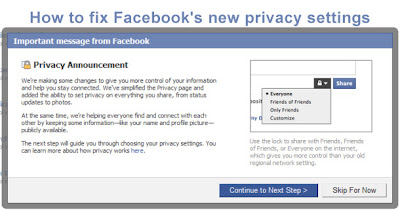 how to fix facebook privacy settings