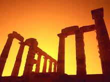 Ηλιοβασίλεμα στο Ναό του Ποσειδώνα, Σούνιο-Sunset at Temple of Poseidon, Cape Sounion