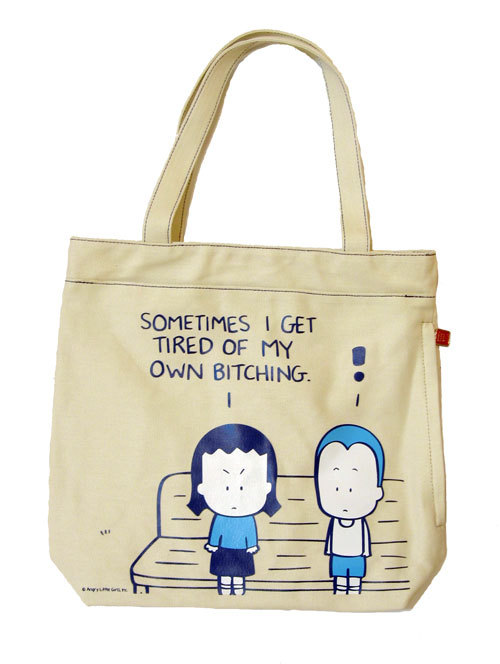 Angry Little Asian Girl canvas bags feature a zippered pocket along ...