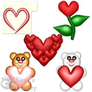 Love icons for Valentines day