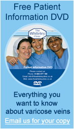 Request our free DVD about Varicose Vein treatments