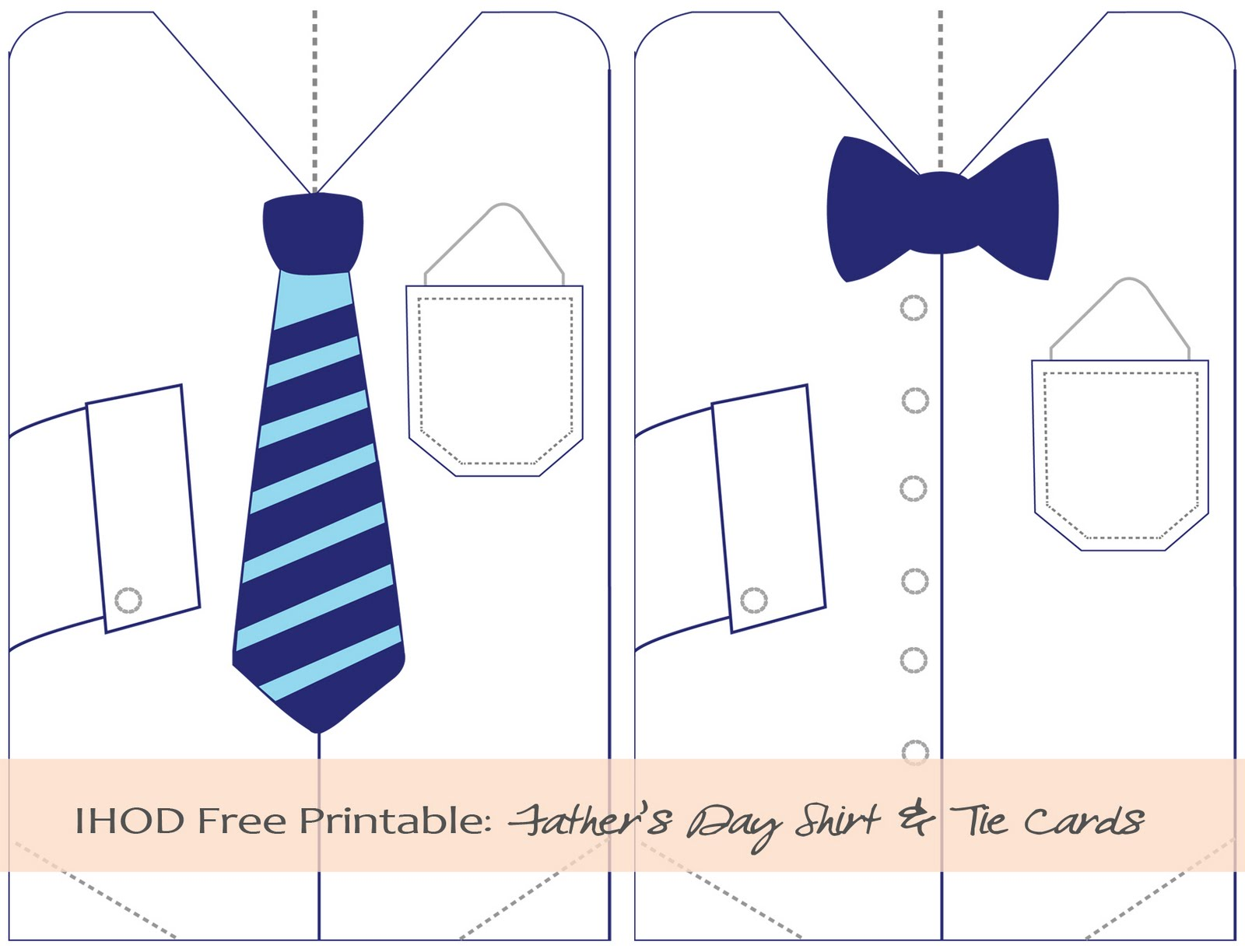 DIY: Free Printable Father\'s Day Shirt & Tie Card | In Honor Of Design