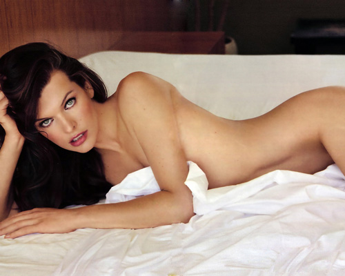 milla jovovich and naked. Milla Jovovich in Maxim
